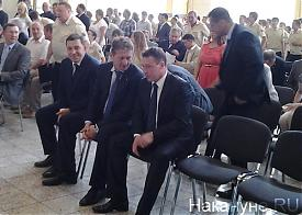 Игорь Холманских Андрей Козицын Евгений Куйвашев УГМК |Фото: Накануне.RU