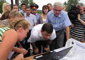 Александр Якоб Евгений Куйвашев осмотр транспортных развязок|Фото: Накануне.RU