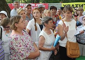 митинг против строительства парка на Юго-Западе в Екатеринбурге|Фото: alshevskix.livejournal.com