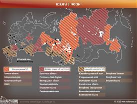 Пожары в России Фото: Накануне.RU