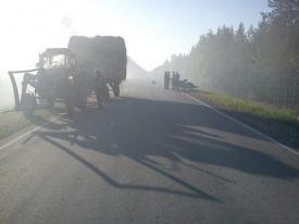 дтп на дороге тавда мотоциклист трактор дым|Фото: 66.gibdd.ru
