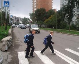 школьник пешеходный переход машины улица|Фото: ozvest.ru