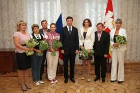 Михаил Юревич и олимпийцы|Фото:А. Колющенко