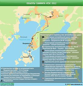 инфографика объекты саммита АТЭС, Владивосток, остров Русский|Фото: Накануне.RU