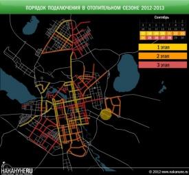 Порядок подключения в отопительном сезоне 2012-2013 Фото:Накануне.RU
