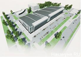 макет реконструкции дворца спорта в Екатеринбурге|Фото: Накануне.RU
