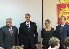 инаугурация Носова, Шептий, Чечунова Фото: Накануне.RU