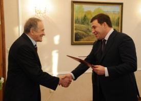 куйвашев тетюхин награда|Фото:пресс-служба губернатора Свердловской области