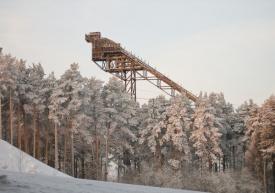 старый трамплин гора уктус екатеринбург|Фото: vitkaravan.livejournal.com