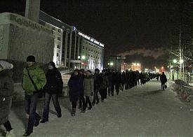"""флэшмоб """"змея"""" Нефтеюганск Фото:"""