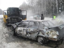 автобус, ваз, пожар|Фото:http://66.gibdd.ru