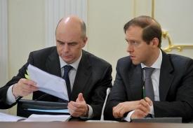 министр финансов антон силуанов и министр промышленности и торговли денис мантуров Фото: kremlin.ru