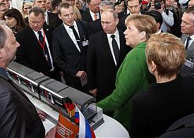 УВЗ выставка Ганновер Мессе Путин Меркель|Фото: УВЗ