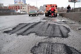 ямочный ремонт мост на Бебеля асфальт |Фото: Владимир Задумин