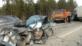 дтп, семерка, камаз, лексус, грузовик|Фото:http://66.gibdd.ru