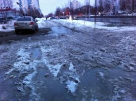 нижневартовск снег грязь лужи|Фото: http://insapova-online.livejournal.com/20608.html