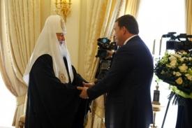 патриарх кирилл, куйвашев Фото:ДИП свердловского губернатора