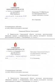 письмо бородину, куйвашев, гоголя,7|Фото:ДИП свердловского губернатора