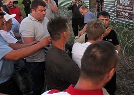 Медногорский Медносерный комбинат, мирный протестный лагерь на Хопре, избиение, полиция, ЧОП|Фото: savekhoper.ru