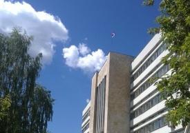 перевернутый флаг, академия госслужбы|Фото:http://vk.com/