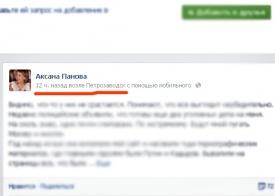 панова в петрозаводске, фейсбук, скрин|Фото:
