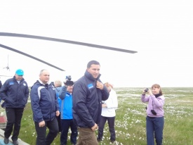 кобылкин, остров белый, сметанюк, сибнефтепровод|Фото:пресс-служба Сибнефтепровод