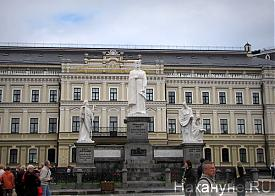 памятник Ольга, Апостол Андрей, Кирилл и Мефодий, Киев|Фото: Накануне.RU