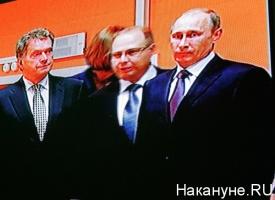 Владимир Путин, Саули Ниистё|Фото: Накануне.RU