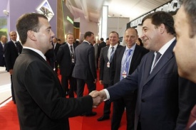 Куйвашев, Медведев, встреча, форум сочи|Фото: twitter.com/DIPGubernator96