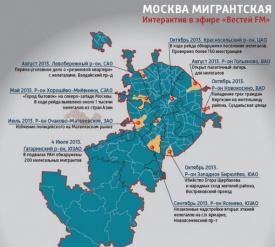 москва мигрантская Фото: вести