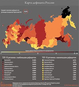 инфографика карта дефицита России|Фото: Накануне.RU