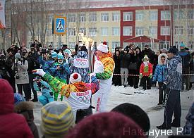 Нефтеюганск, праздничные мероприятия, Олимпийский огонь Фото: Накануне.RU