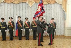 УФСКН Челябинской области знамя вручение|Фото: gubernator74.ru