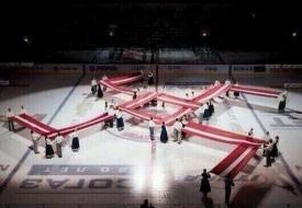 латвия, рига, свастика, югра, хоккей Фото: