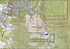 карта Местоположение завода Lhoist|Фото: Накануне.RU