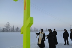 Сибнефтепровод , крест, установка Фото:пресс-служба Сибнефтепровод