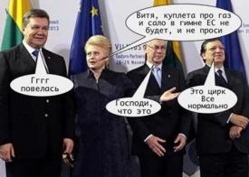 янукович, грибаускайте, ес, ассоциация, карикатура|Фото: