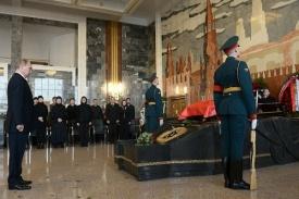 Путин на прощании с Калашниковым Фото: кремль