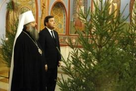 Митрополит Кирилл, Куйвашев, рождество, прием|Фото:пресс-служба губернатора Сведловской области