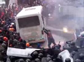 киев, 19 января, беспорядки ,вече|Фото:ustream.tv.