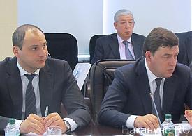Евгений Куйвашев и Денис Паслер, заседание союза промышленников и предпринимателей Фото: Накануне.RU