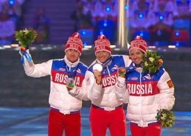 закрытие олимпиады Александр Легков Максим Вылегжанин Илья Черноусов|Фото: