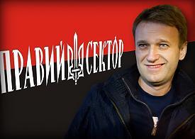 коллаж правый сектор, Навальный Фото: