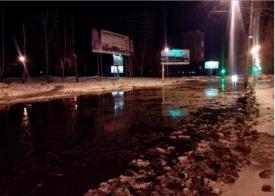 порыв, авария, потоп, лужа Фото: форум e1.ru