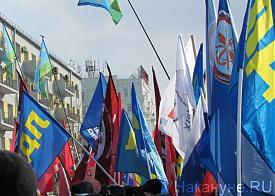 Екатеринбург, митинг в поддержку Крыма, 06.03.2014, флаги|Фото: Накануне.RU