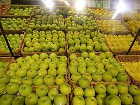 Гринвич Гипербола магазин супермаркет прилавок витрина яблоки фрукты|Фото:Накануне.RU