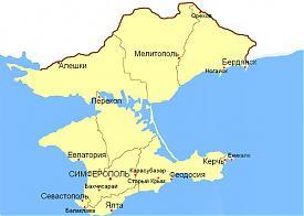 Таврическая губерния, карта, 1897 год Фото: