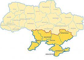 карта, Украина, области, Крым Фото: