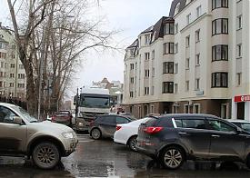 тягач, центр города, затор Фото: facebook.com/ivan.kolotovkin.7