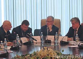 заседание клуба политического действия, Спектор, Дубичев, Федоров, Биктуганов Фото: Накануне.RU